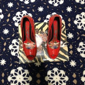 Ed Hardy Red Heels! (Size 6)